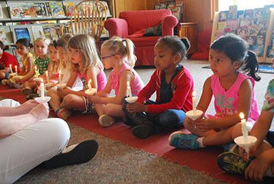Pre-K Students in Chapel